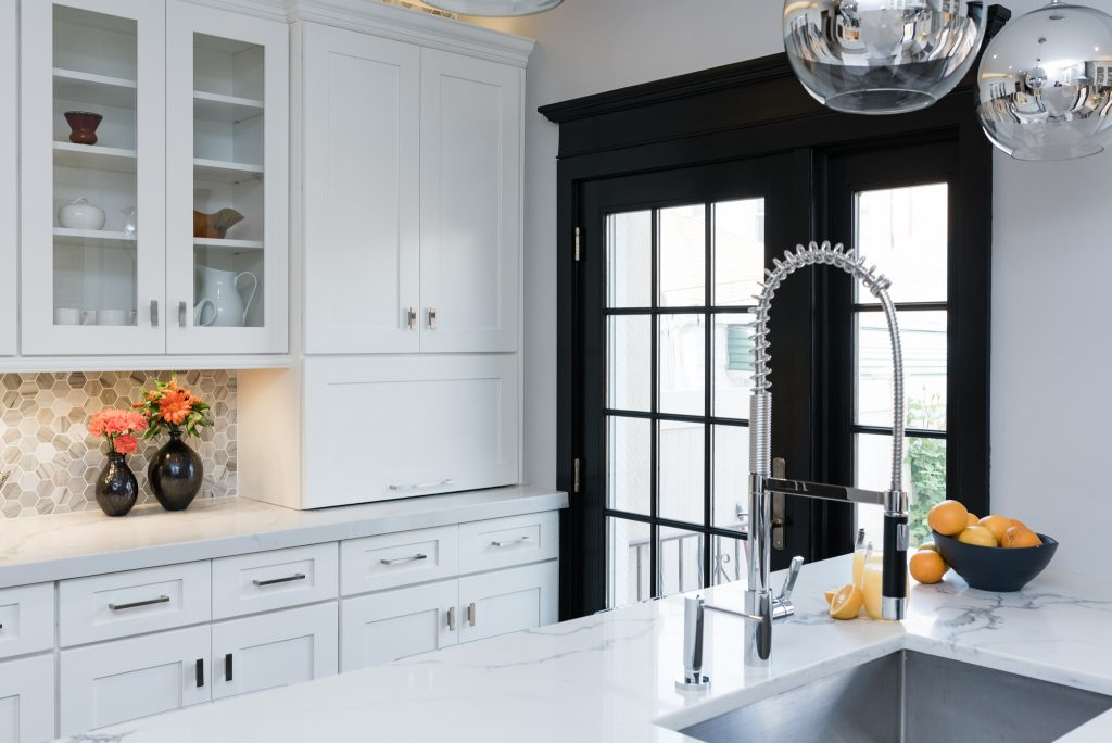 white counter kitchen