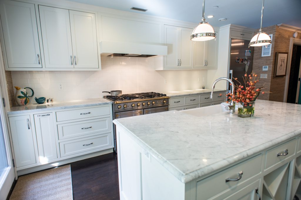 modern white cabinetry